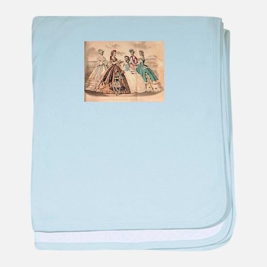 Godey's Ladies Book Victorian Fashion baby blanket