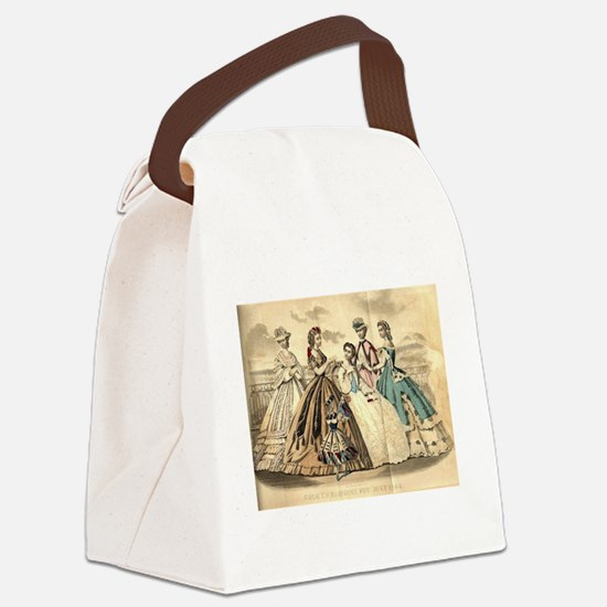 Godey's Ladies Book Victorian Fas Canvas Lunch Bag