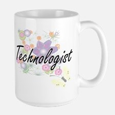 Technologist Artistic Job Design with Flowers Mugs