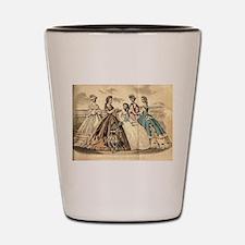 Godey's Ladies Book Victorian Fashion P Shot Glass
