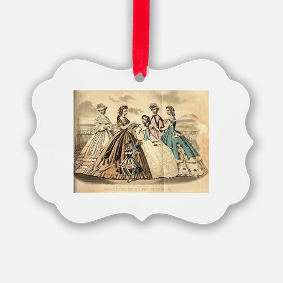 Godey's Ladies Book Victorian Fas Ornament
