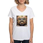 DA MAN Women's V-Neck T-Shirt