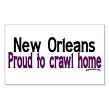 NOLA Proud To Crawl Home Rectangle Decal