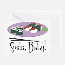 Sushi Baby Greeting Card