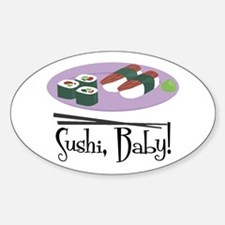 Sushi Baby Oval Decal