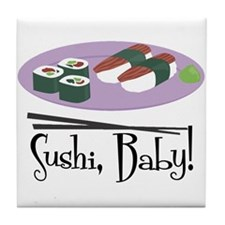 Sushi Baby Tile Coaster