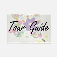 Tour Guide Artistic Job Design with Flower Magnets