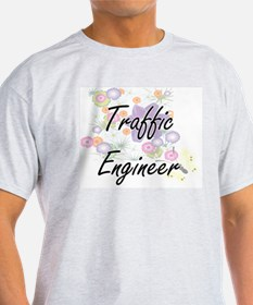 Traffic Engineer Artistic Job Design with T-Shirt