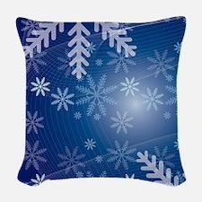 Snowflakes Woven Throw Pillow