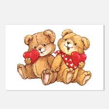 Cute Valentine Bear Postcards (package Of 8)