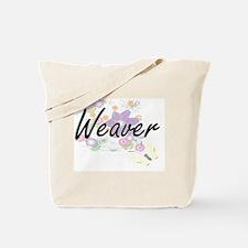 Weaver Artistic Job Design with Flowers Tote Bag