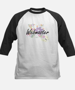 Webmaster Artistic Job Design with Baseball Jersey