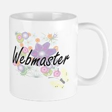 Webmaster Artistic Job Design with Flowers Mugs