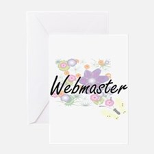 Webmaster Artistic Job Design with Greeting Cards