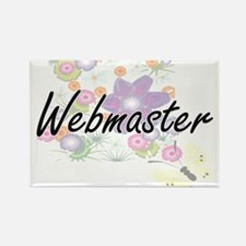 Webmaster Artistic Job Design with Flowers Magnets