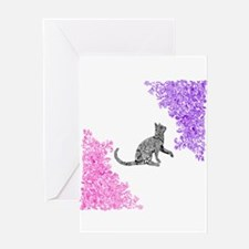 Cat Doodle Art Greeting Cards