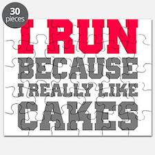 I Run Because I Really Like Cakes Puzzle