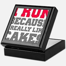 I Run Because I Really Like Cakes Keepsake Box