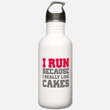 I Run Because I Really Like Cakes Water Bottle
