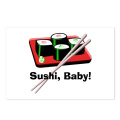 California Roll Sushi Postcards (Package of 8)