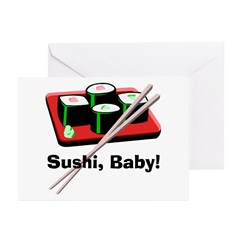 California Roll Sushi Greeting Cards (Pk of 20)