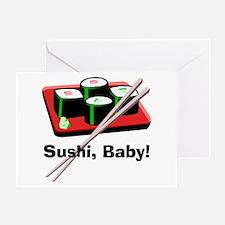 California Roll Sushi Greeting Card