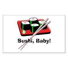 California Roll Sushi Rectangle Decal