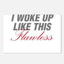 I Woke Up Like This Flawless Workout Postcards (Pa