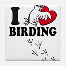 I love Birding Tile Coaster