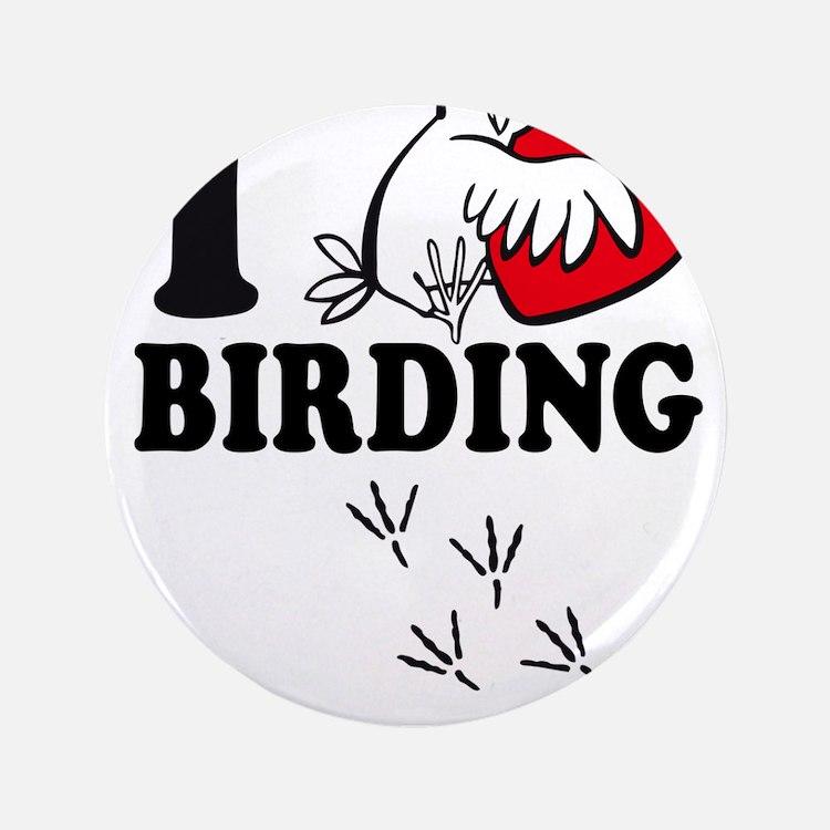 "I love Birding 3.5"" Button (100 pack)"