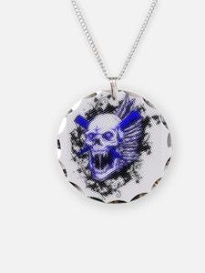 Blue skull Necklace