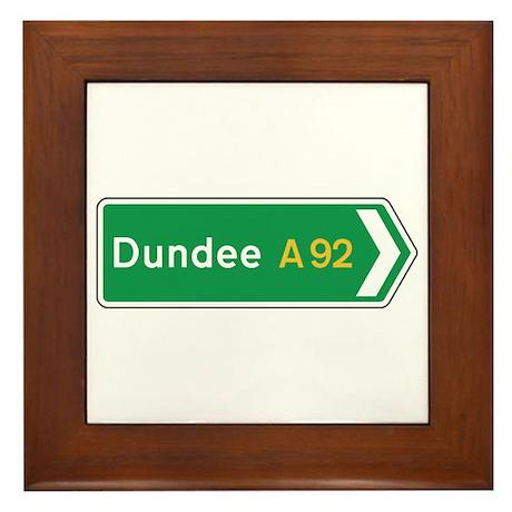 Dundee Roadmarker, UK Framed Tile