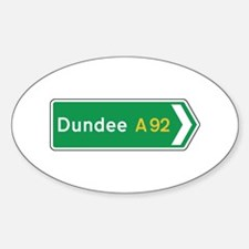 Dundee Roadmarker, UK Oval Decal