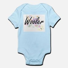 Wooler Artistic Job Design with Flowers Body Suit