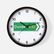 Dundee Roadmarker, UK Wall Clock