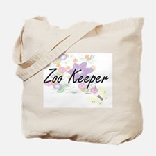 Zoo Keeper Artistic Job Design with Flowe Tote Bag
