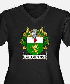 McGinnis Coat of Arms Women's Plus Size V-Neck Dar