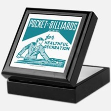 Pocket Billiards Keepsake Box