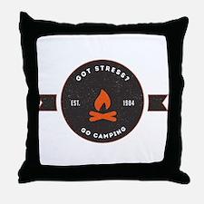 Got Stress? Go Camping. Throw Pillow