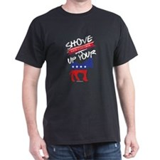 Protect Your Rights Shove Gun Control Up Y T-Shirt