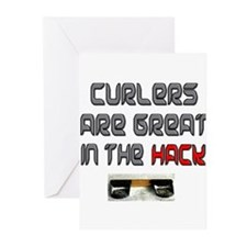 Curlers are Great in the Hack Greeting Cards (Pk o