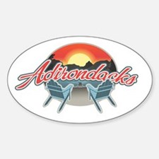 Threedown Adirondack Oval Decal