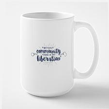 Community Liberation (on light) Mugs