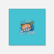 "the brady bunch: the silver Square Sticker 3"" x 3"""