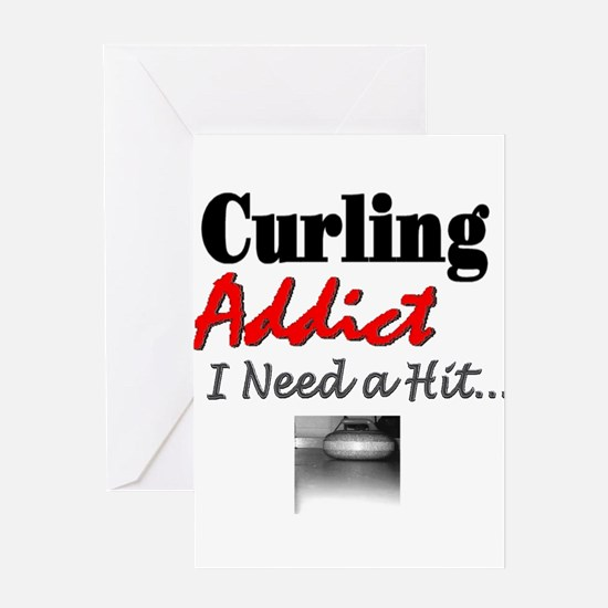 Curling Addict (Hit) Greeting Card
