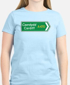 Cardiff Roadmarker, UK T-Shirt