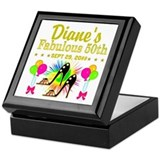 50th birthday Square Keepsake Boxes