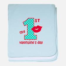 My 1st Valentine's Day baby blanket