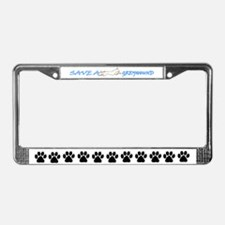 Save A Greyhound! License Plate Frame