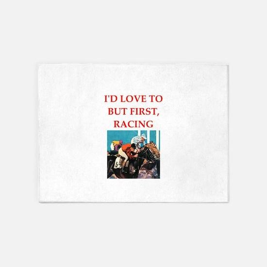 horse racing 5'x7'Area Rug
